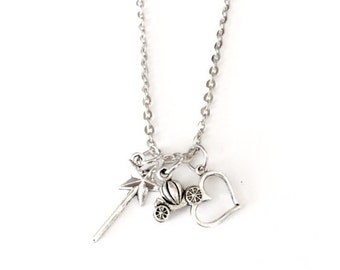 Glass Slipper Princess Necklace