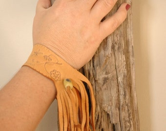 Fringed Leather Bracelet