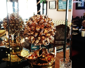Golden Chocolate Double Candy Trees Canterpieces