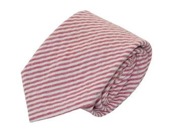 Red Seersucker Tie