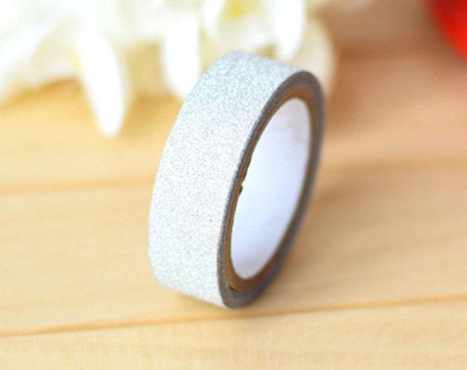 Silver Glitter Washi Tape (10m)