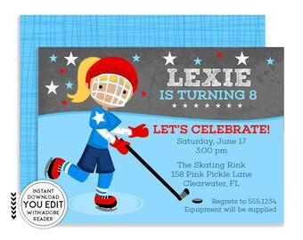 Hockey Invitation, Hockey Birthday invitations, Hockey Birthday, Hockey Party, Hockey Baby Shower, Hockey Invitations, Hockey Invite, | 158