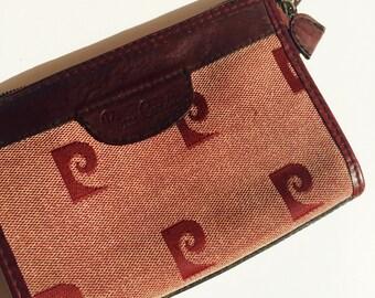 Vintage Pierre Cardin Red Cosmetics bag Make Up Purse