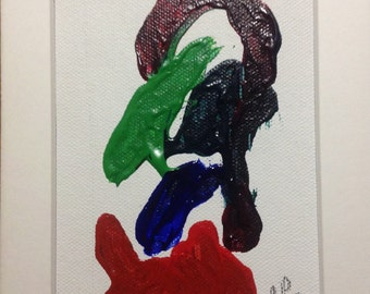 Original Organic Painting made with flowers, branches and fruit by Barry Pase #1