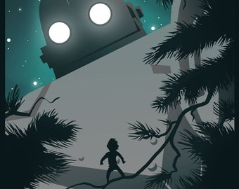 The Iron Giant 8x10 Robot Art Print