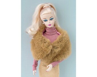 Brown stole for Barbie and Poppy Parker