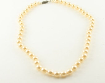 50% OFF Vintage Faux Pearl Necklace, 18 inches long