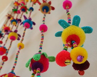 100% Handmade Cute Doll Beads Curtain For Home Decoration (for Window) Code CW0001
