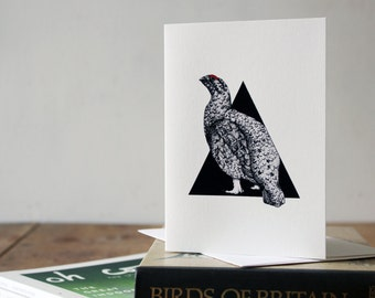 A6 Red Grouse Greetings Card