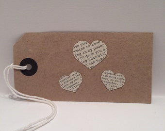 Pressed Heart Gift Tag - FREE UK SHIPPING