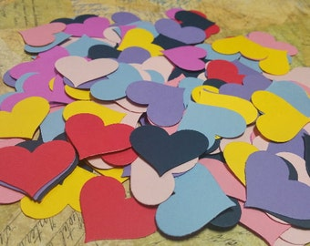 Die Punched  Hearts. Confetti, Cupcake Toppers, Table and Card Decorations.   #OP-17