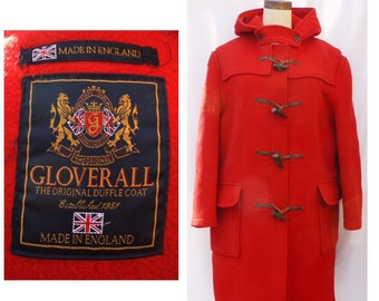 1970s Mens Gloverall Red Duffle Coat