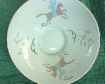 Vintage, Signed VALLY WERNER BOWL; Mint Condition