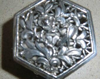 Vintage Sterling Silver persian trinket box, signed