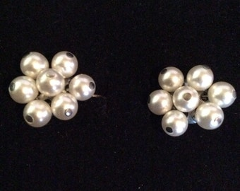 Pearl beaded clip on 1/2 in