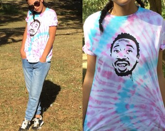 XL Tie Dye ODB Shirt - pink, hipster shirt, music tshirt, gift for him, unisex tee, urban