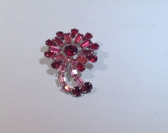 Red and Pink Brooch