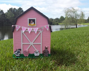 Barnyard animals pinata custom made