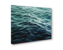 Dark Waters 3 - Canvas, Turquoise Blue Green Ocean Seascape Decor, Beach Surf Home Interior Accent Hanging. In 8x10 11x14 16x20 20x24 24x36