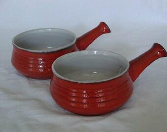 Vintage Estriceram French Onion Soup Dish - Set of 2