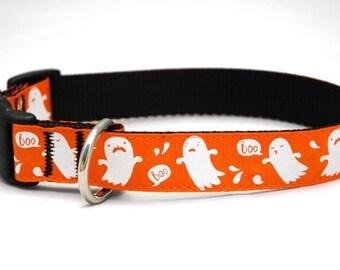 Halloween Dog Collar- Big Ghosts!