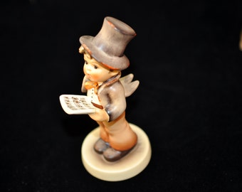 Street Singer, Hummel Figurine, 1960's, 275.00 on bottom, Paper tag on bottom, We have lots in our shop, Goebel Hummel Great Gift Idea, #773