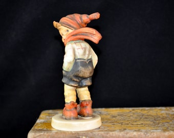 1960's March Winds, Hummel Figurine, We have more Hummels, Great Prices, Paper tag, Goebel Hummel, Great Gift Idea,  Nice condition, #721