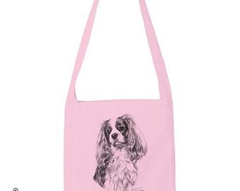 Cavalier King Charles Spaniel Puppy Dog Pet Lovers BnW Portrait T-shirt, Hoodie Tote Bag Tank Top