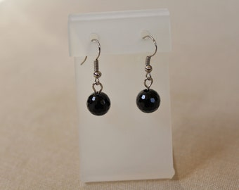 Black Bead Earings