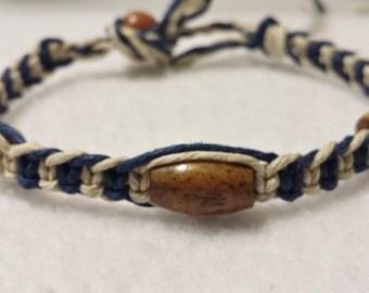 Bone Bead Hemp Bracelet - Hemp Anklet - Hemp Jewelry