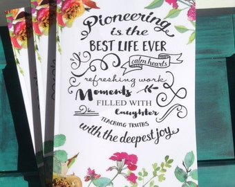 Pioneering is The Best Life Ever Notebook -  jw ministry - jw pioneer gifts - best life ever - jw pioneer - happiertogive