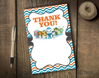Octonauts Thank You Card - Instant Download