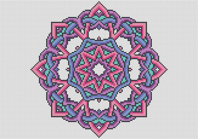 Kit Knotty Mandala Cross Stitch Kit By Theworldinstitches