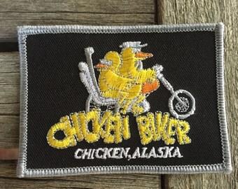 Chicken Biker, Chicken, Alaska Souvenir Travel Patch