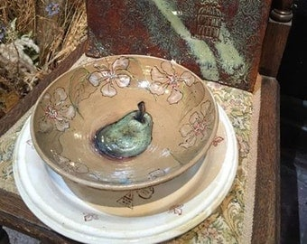 Decorative hand painted bowl