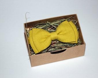 Handmade yellow bow tie
