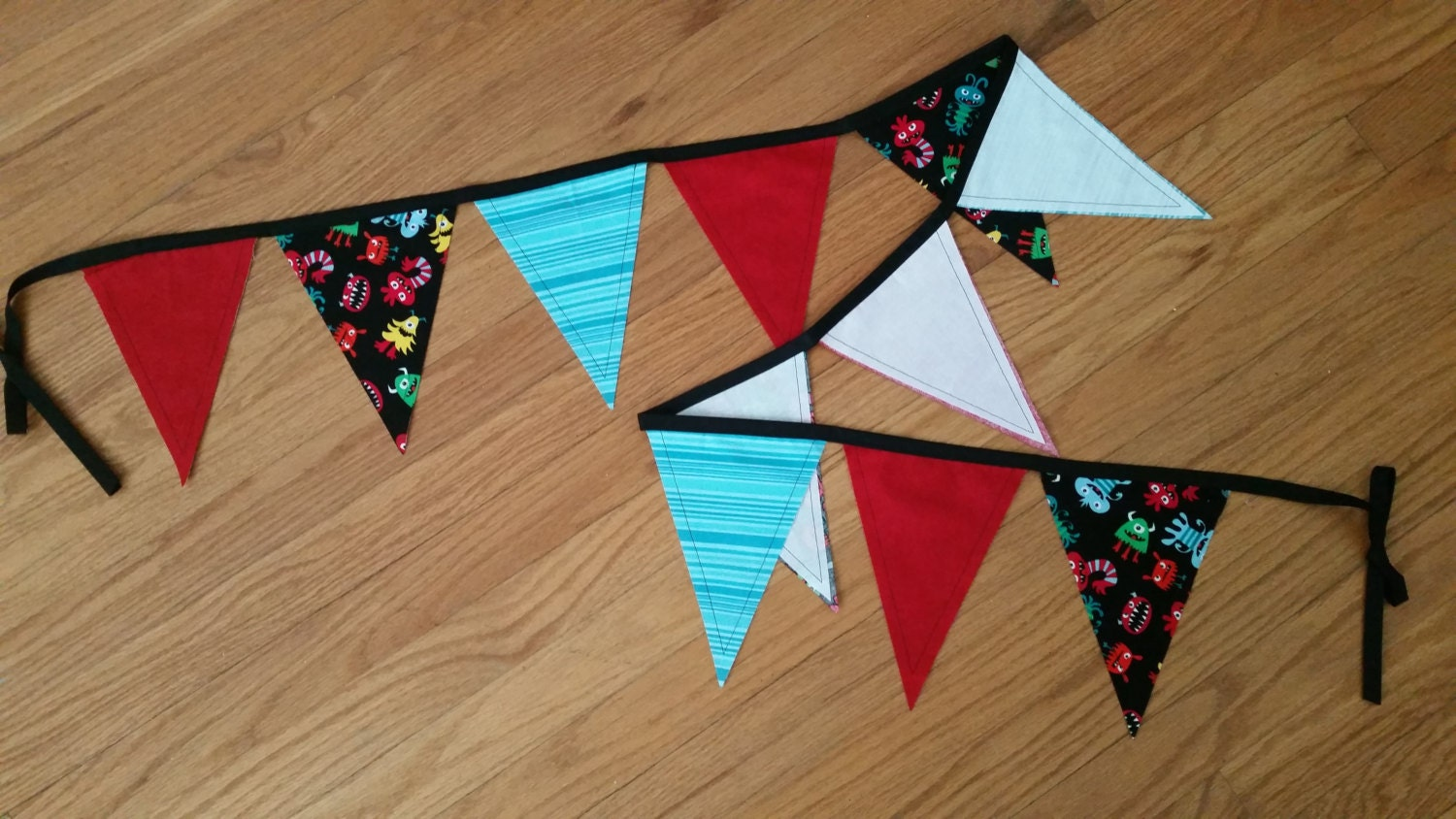 Monster fabric pennant for Monster themed fabric