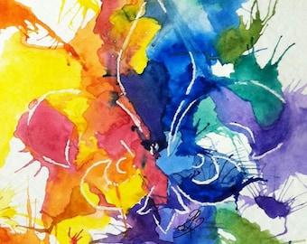 """Fine Art Print Watercolor Painting // """"Fleur de Lis"""""""