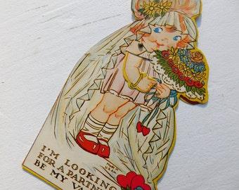 Vintage Valentine's Day Mechanical Card