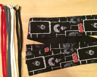 Choose Your Color of Ties The Walking Dead Zombie Faces cross fit Wrist Wraps