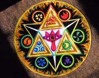 ZELDA TRIFORCE - Hand Painted Vinyl - One Of A Kind