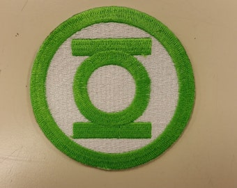 Green Lantern Patch, Superhero Embroidered Patch, Iron On Superhero Patch, Comic Book Hero Patch, Cosplay Patch