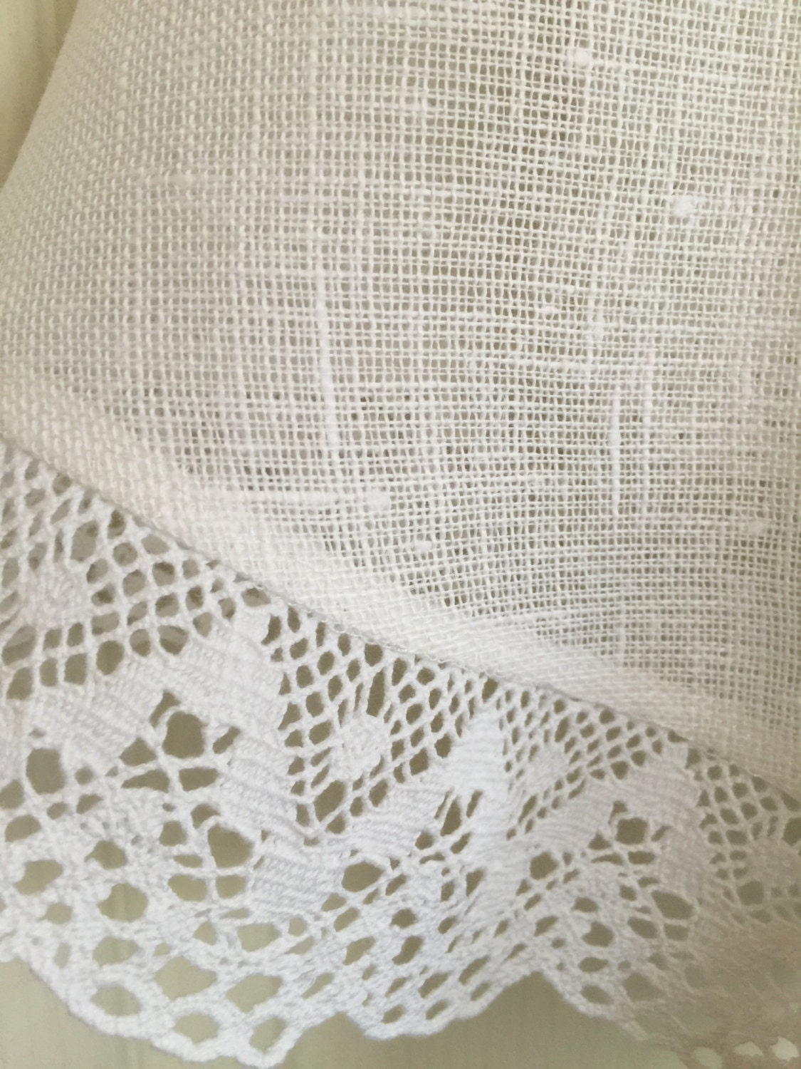 linen round tablecloth white lace by rokasdarbi on etsy. Black Bedroom Furniture Sets. Home Design Ideas