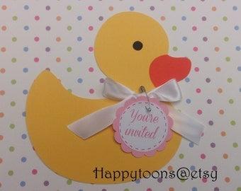 Baby Duck Babyshower invitations, baby shower, babyshower set of 25 invitations