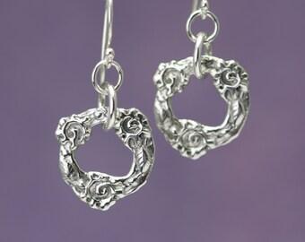 Artisan Sterling Silver Flower Crown Earrings – Calieri