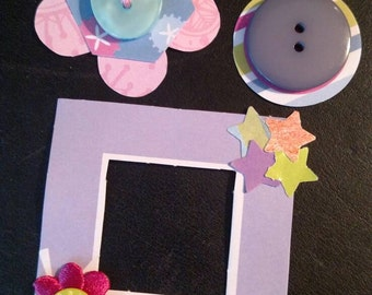 Scrapbook Embellishments, Pinks and Purples