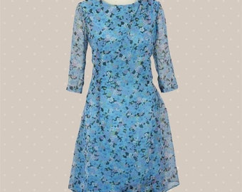 50s flower dress