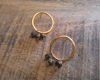 Circle Earrings, Gold Circle Earrings, Stud Gold Earrings, Stud Circle Earrings