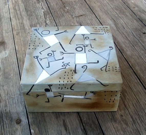 Wooden Keepsake Box - DANCING IN FEAR