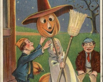 Halloween Post card c1910 Orignal and rare